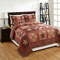 5pc Bradford Star King Patchwork Bed Quilt Set By Olivias/country Bedding