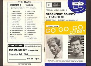 1970 FOOTBALL PROGRAMME DIV3 STOCKPORT COUNTY v TRANMERE 14th FEBRUARY 1970 - swansea, Swansea, United Kingdom - 1970 FOOTBALL PROGRAMME DIV3 STOCKPORT COUNTY v TRANMERE 14th FEBRUARY 1970 - swansea, Swansea, United Kingdom
