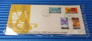 Singapore-First-Day-Cover-Musical-Instruments-10-11-1969-1-4-Cents-2-5