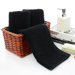 Black-Towels-Solid-Face-Towel-Hotel-Bathroom-Beauty-Parlor-Home-Women-Washcloth