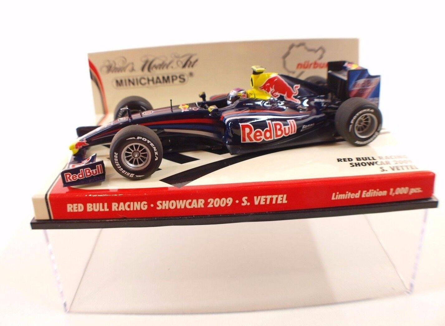 Minichamps rouge Bull Racing Showcar 2009 S.Vettel 1 43 neuf mint boxed  en boîte