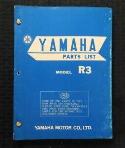 1969 Yamaha Model R3 350 Racing Motorcycle Parts Catalog Manual Nice Ebay