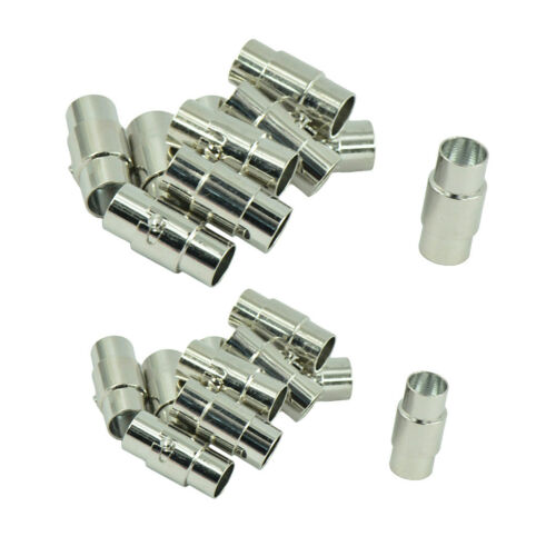20 Set Locking Magnetic Clasp End Beads for Leather Cord Connectors Findings