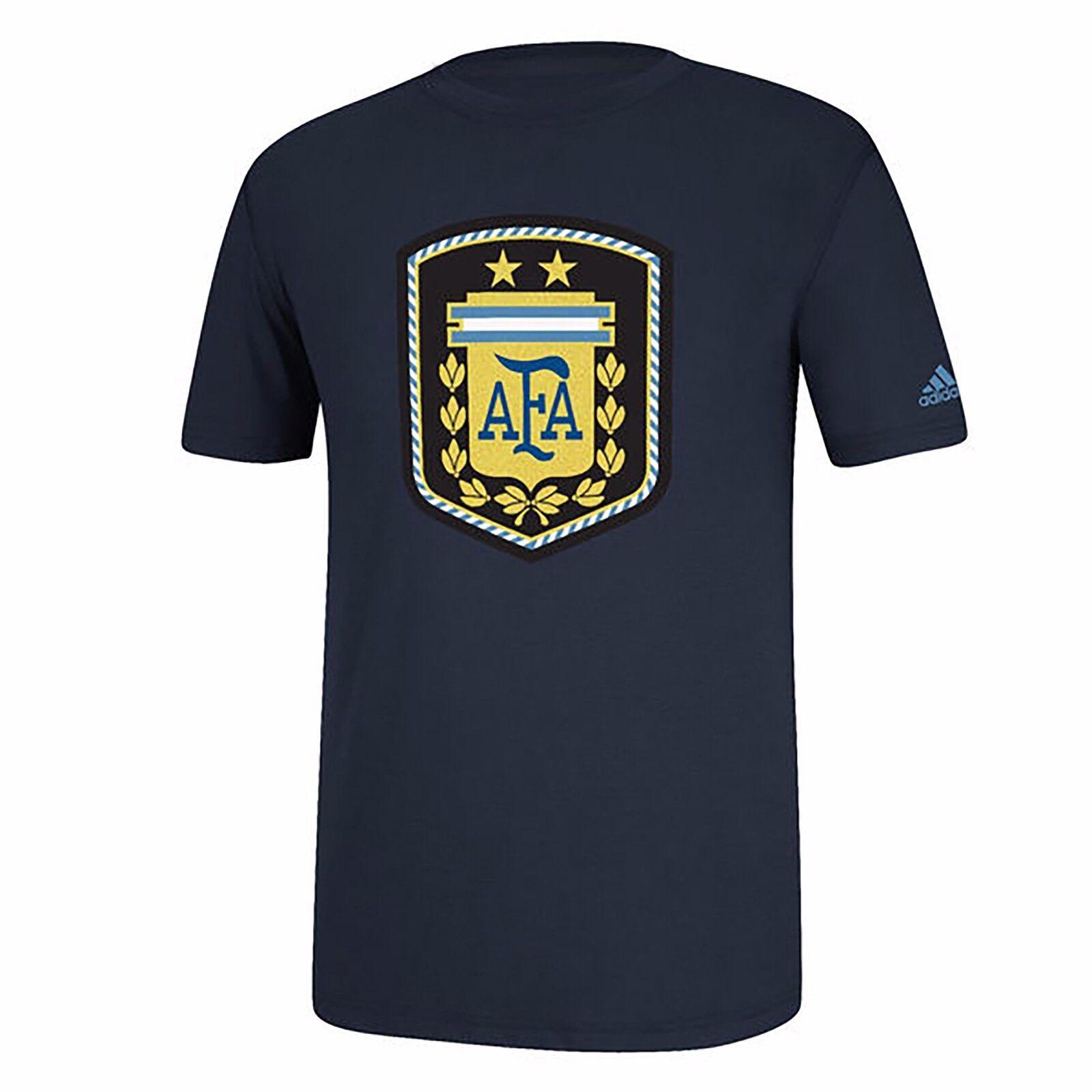 Camiseta gráfica S M L XL masculina de la AFA Argentina Selección adidas Navy FIFA