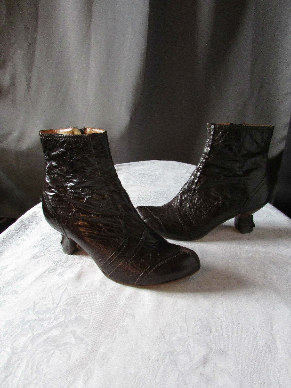 Stiefel/bottines harlot cuir marron chocolat pointure 37