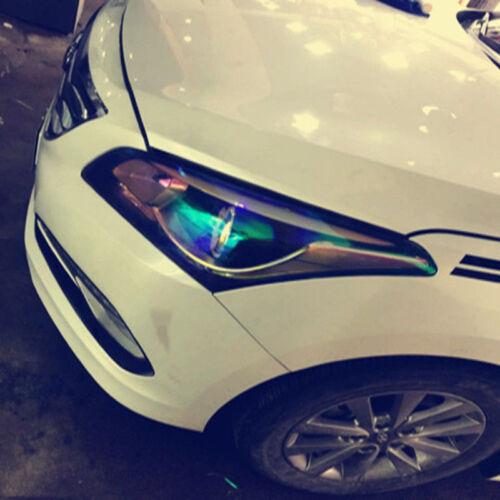 Blue Chameleon Car Headlight Tail Light Covers Tint Film Sticker Change Color