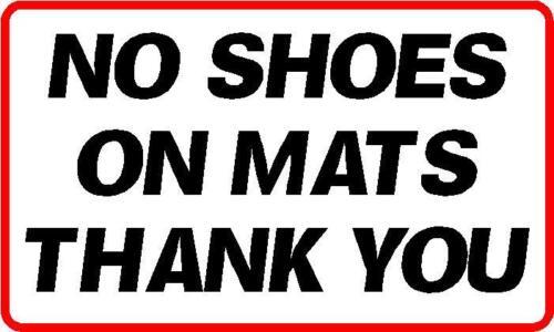 Cantidad 2x 297X170MM Aprox A4 sin zapatos en Mat Pegatina centro de Fitness Gimnasio Spa