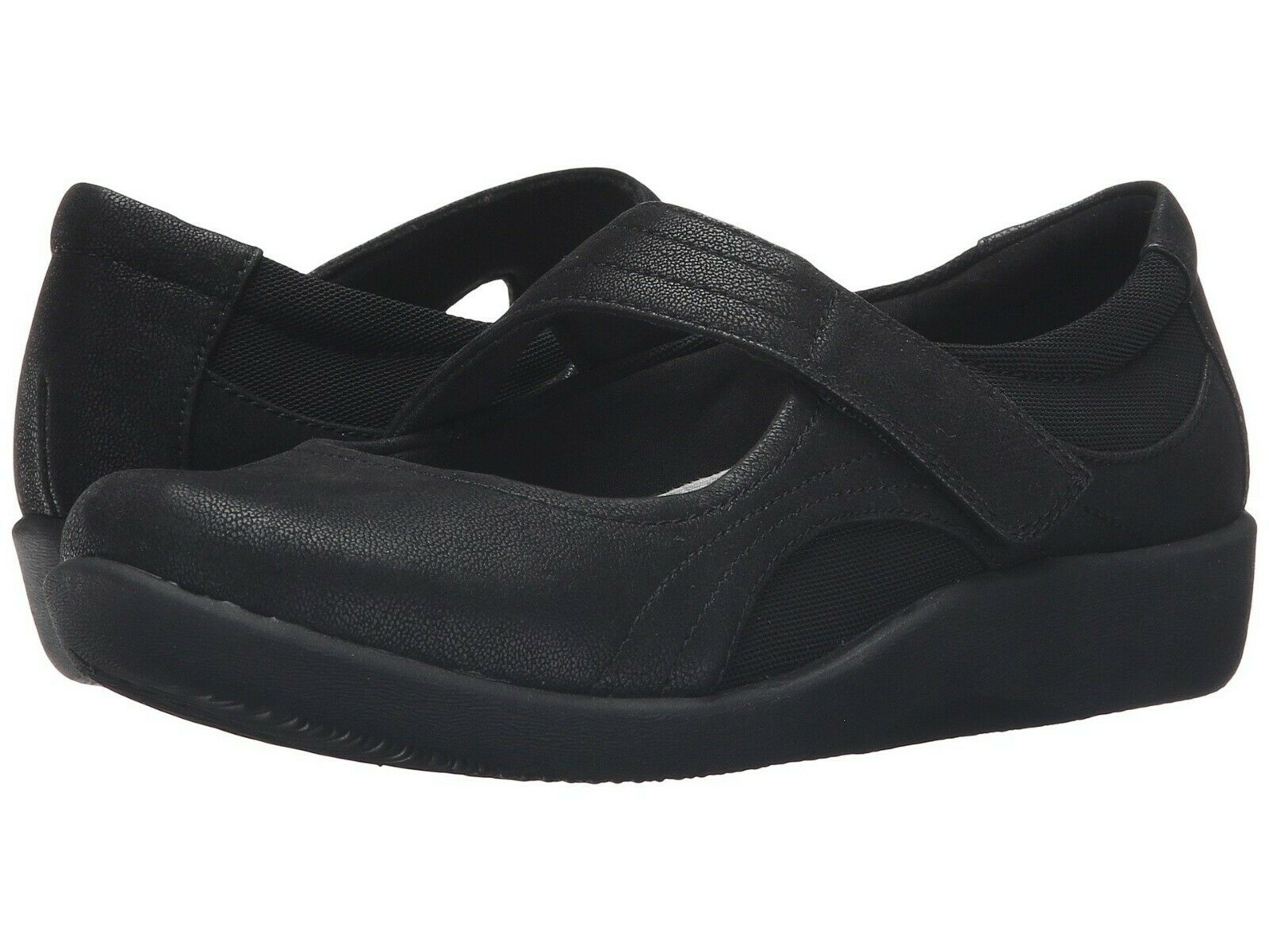 Chaussures femmes Clarks Sillian Bella Casual Mary Jane Flats 21457 noir