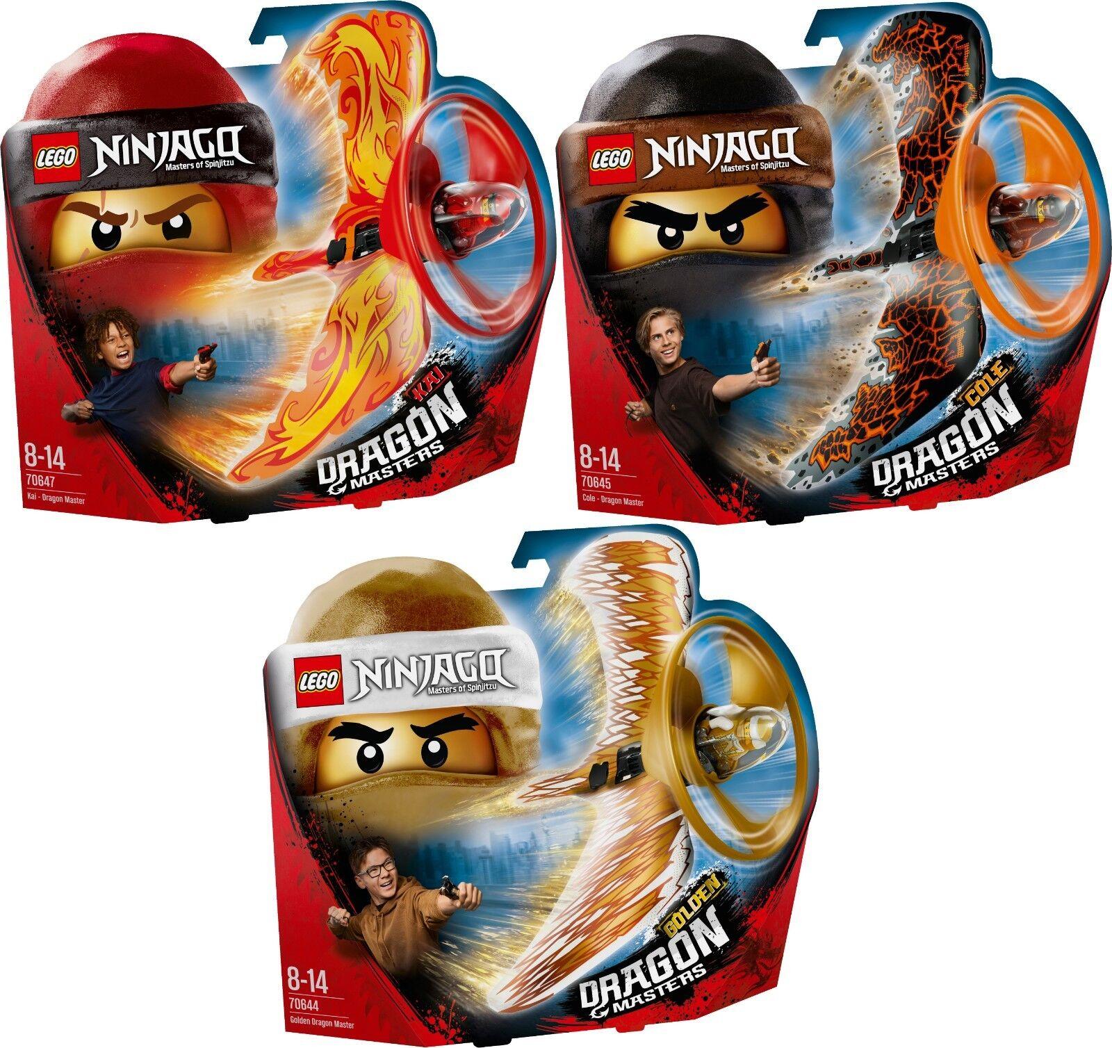 LEGO Ninjago 70647 70645 70644 Drago maestro Kai Cole oroen ACTION TOYS n6/18