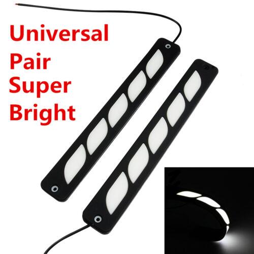 2x Waterproof COB Car Daytime Running Light DRL Driving Bulbs Daylight Fog Light
