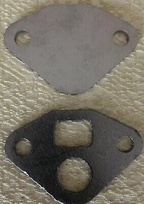 V8 FORD RAW STEEL EGR BLOCK OFF PLATE DELETE 4 1977-95 NEW W//GASKET 6