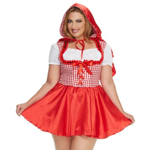 Mystery House Women/'s Plus-Size Red Riding Hood Style #M1476W