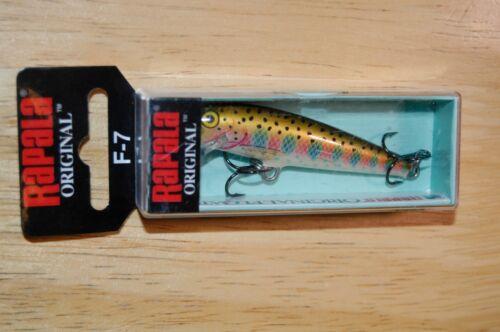 "rapala f-7 rt f07 rainbow trout bass balsa 2 3//4/"" 1//8oz minnow lure floating"
