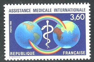 SELLOS-TEMA-MEDICINA-FRANCIA-1988-2535-OMS-1v