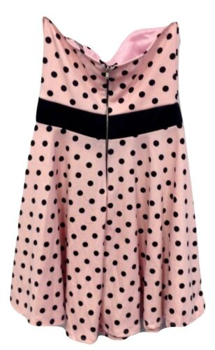 NEW Polka Dot Party Dress Charlotte Russe 1950/'s Style Retro Pink Black