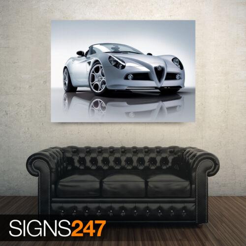 Poster Print Art A0 A1 A2 A3 ALFA ROMEO 8C SPIDER CAR 3 AB181 CAR POSTER
