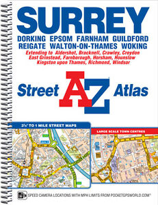 Az Street Map Of London.Details About A Z Surrey Street Atlas Street Map Spiral 2017