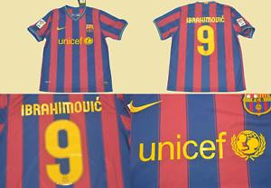 Fc Barcelona Jersey 2009 2010 Ibrahimovic Shirt Lfp Model Playera Barca 09 10 Ebay