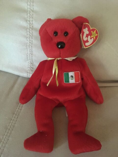 09958e52257 New Ty Beanie Baby Osito the Mexican Bear 1999 Mexico Flag Mint w  Tags MWMT
