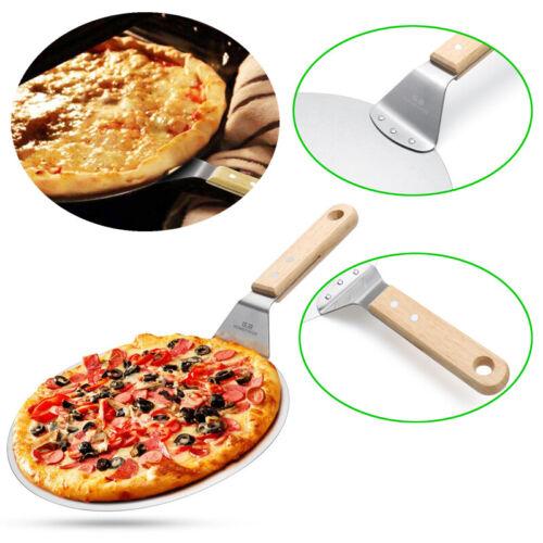 φ:10 inches G.a Stainless Steel Pizza Paddle Non-Slip Grip Handle Hanging Loop