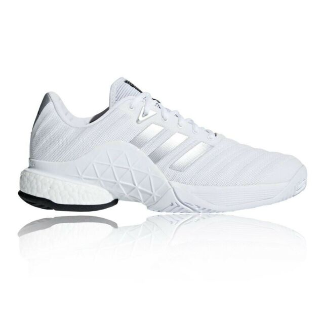 NEW adidas Barricade 2018 Boost DB1570 Men's Sz 9.5 Tennis Shoes White FREE SHIP