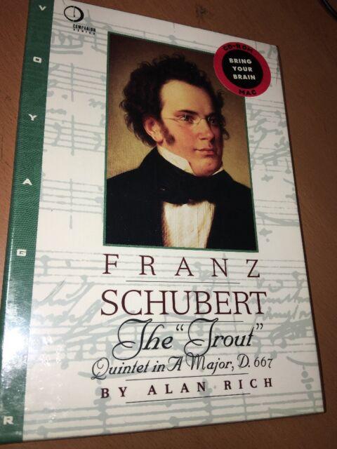 Franz Schubert The Trout Quintet in Major D 667 Alan Rich CD Macintosh ROM