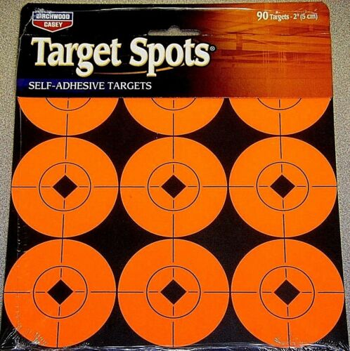 """Birchwood Casey Self Adhesive Targets Spots 2/"""" Round 90 targets 33902 Bright Red"""