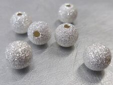 100 Silver Round Stardust 6mm Spacer Beads For Jewellery Making BUY 3 FOR 2