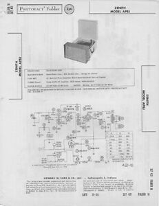 Image Is Loading 1958 ZENITH AP8J PHONOGRAPH RECORD PLAYER SERVICE MANUAL