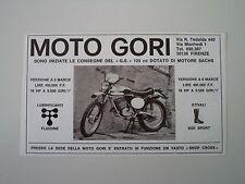 advertising Pubblicità 1972 MOTO GORI GS 125