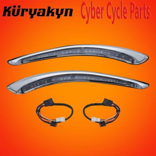 Kuryakyn Chrome Run-Turn LED Bat Lashes For 2014-2018 HD Touring And Trike 7131
