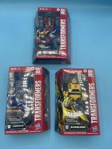 Transformers R.E.D. Coronation Starscream Bumblebee Sound wave  lot of 3 Walmart