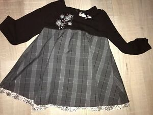 14a64fbad2d12 ORCHESTRA 23 MOIS 2 ans FILLE : ROBE Noire Grise Hiver TBE | eBay