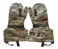 Multicam A-tacs Military Cold Weather Hunting Skiing Mitten Leather Gloves