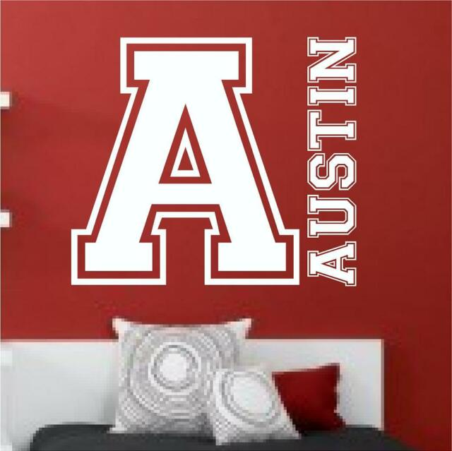 SPORTS THEMED CUSTOM NAME WALL QUOTE CHILDRENS BEDROOM PLAYROOM BOY