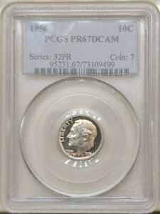 1956-PCGS-PR-67-DCAM-Roosevelt-dime-proof-deep-cameo-red-toning