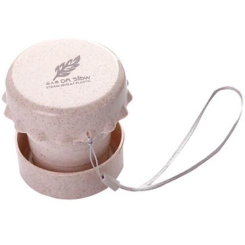 Portable Straw Wheat Drinking Collapsible Folding Cup Travel Camping Supply