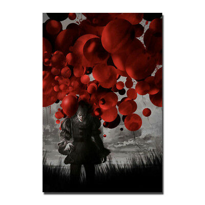 IT 2017 Movie Stephen King Horrible Film PennyWise Silk Poster 13x20 24x36 inch