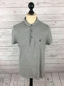 ALLSAINTS-Polo-Shirt-Size-Medium-Grey-Great-Condition