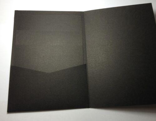 20 Insert Cards Pocket Invitation Cards RAVEN BLACK Envelopes 120x170mm