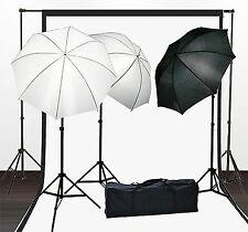 Fancierstudio Lighting Kit With Backdrop Stand Black White Muslin Backdrop An...