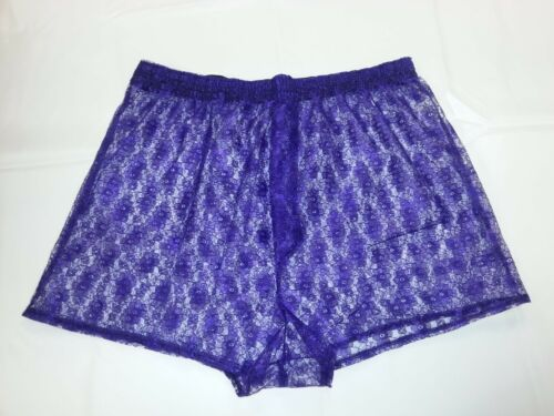 "Lace Boxer Shorts in Purple Size Large to Fit 38/""//42/"" Waist"