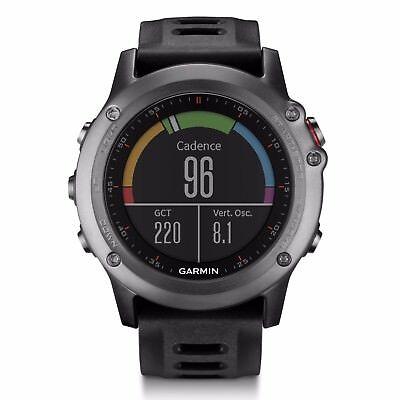 Garmin fenix 3 Gray Multisport Training GPS Watch w/ Black Band 010-01338-00