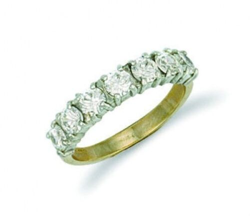 Eternity Ring Half eternity Ring Yellow Gold Ladies Anniversary Eternity Ring