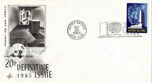 Nazioni UNITE 1965 1965 20c edizione definitiva Primo giorno di copertura