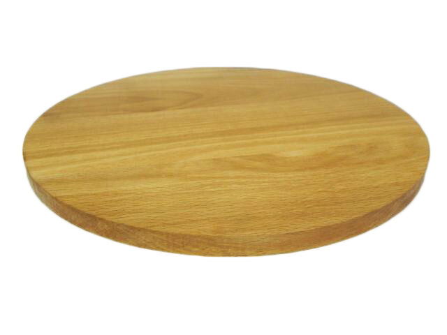 Round Circular Wooden Chopping Board Cutting Serving Pizza Solid Wood 14 Inches