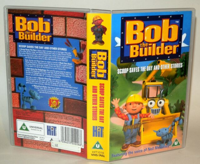 Bob The Builder - Scoop Saves The Day -   Children's VHS Tape & Case. VHS,