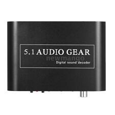 5.1 Audio Decoder Gear DTS/AC-3 Digital Sound to 5.1/2.1 Analog Output Converter