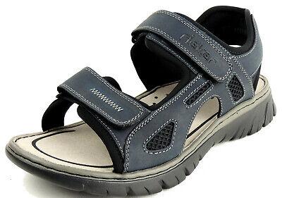 RIEKER Herren Sandale 2x KLETT blau | eBay