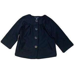Grace Elements Womens Size Large L Black Button Down Blazer